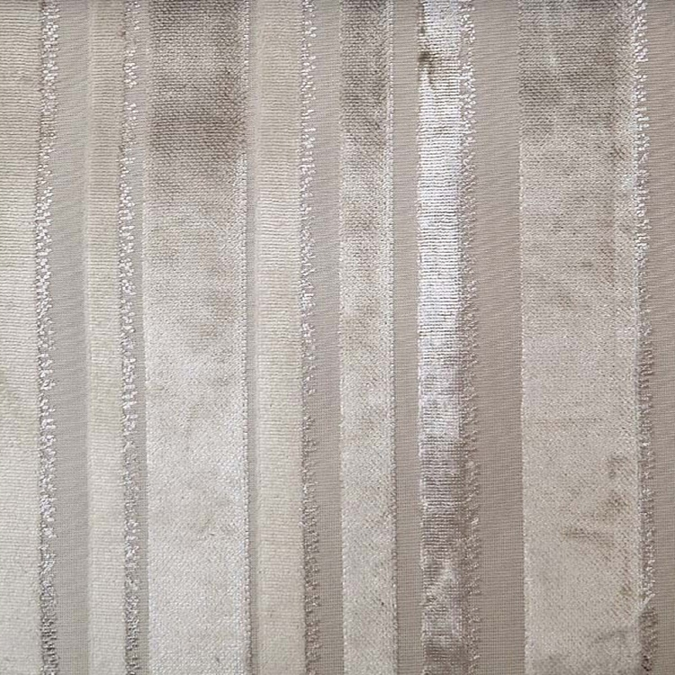Haute House Fabric - Tiret Cream - Stripe Velvet #4203